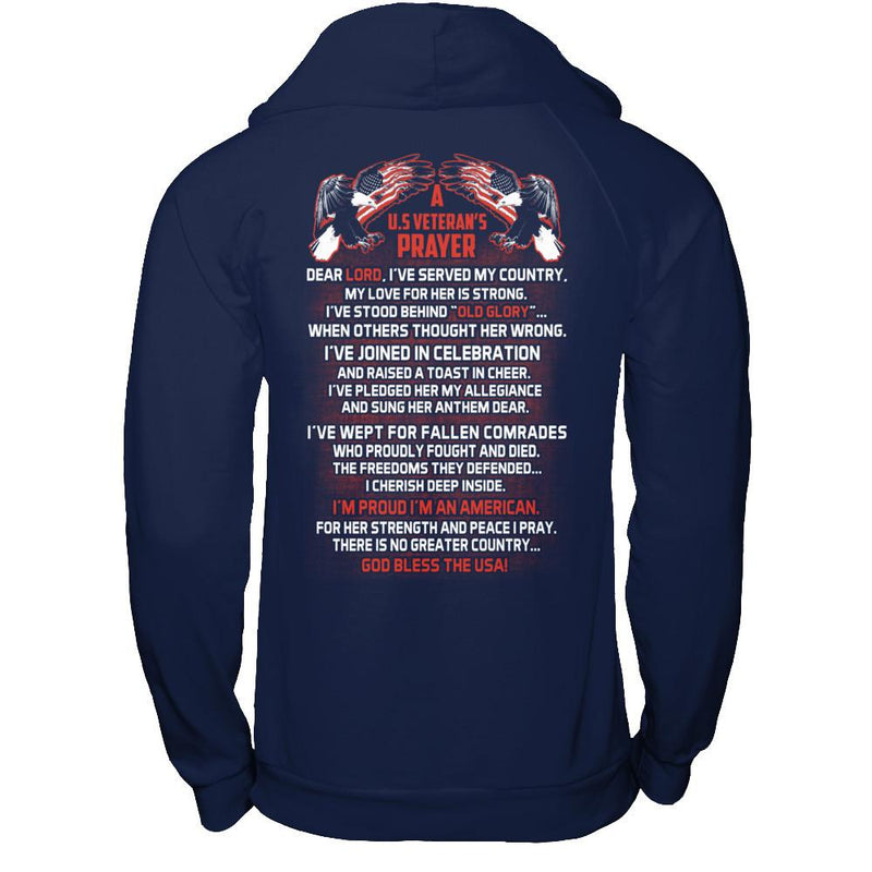 US Veteran's Prayer T Shirt