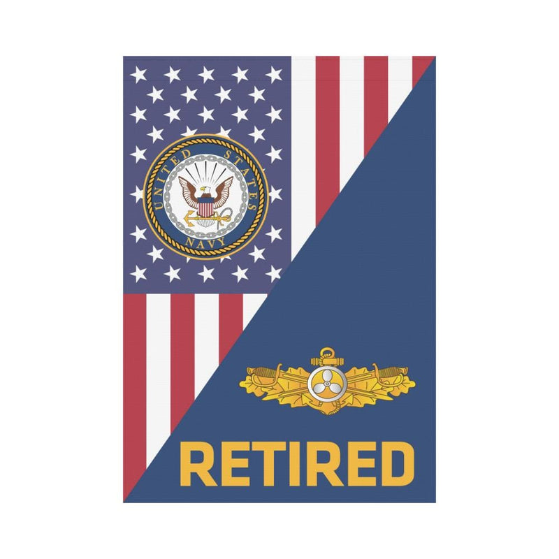 US Navy Engineering Duty Officer Retired House Flag 28 inches x 40 inches Twin-Side Printing