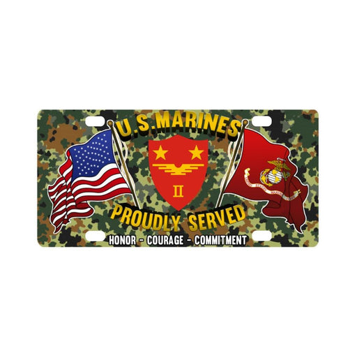 US Marine Corps 2nd MAW Classic License Plate Classic License Plate