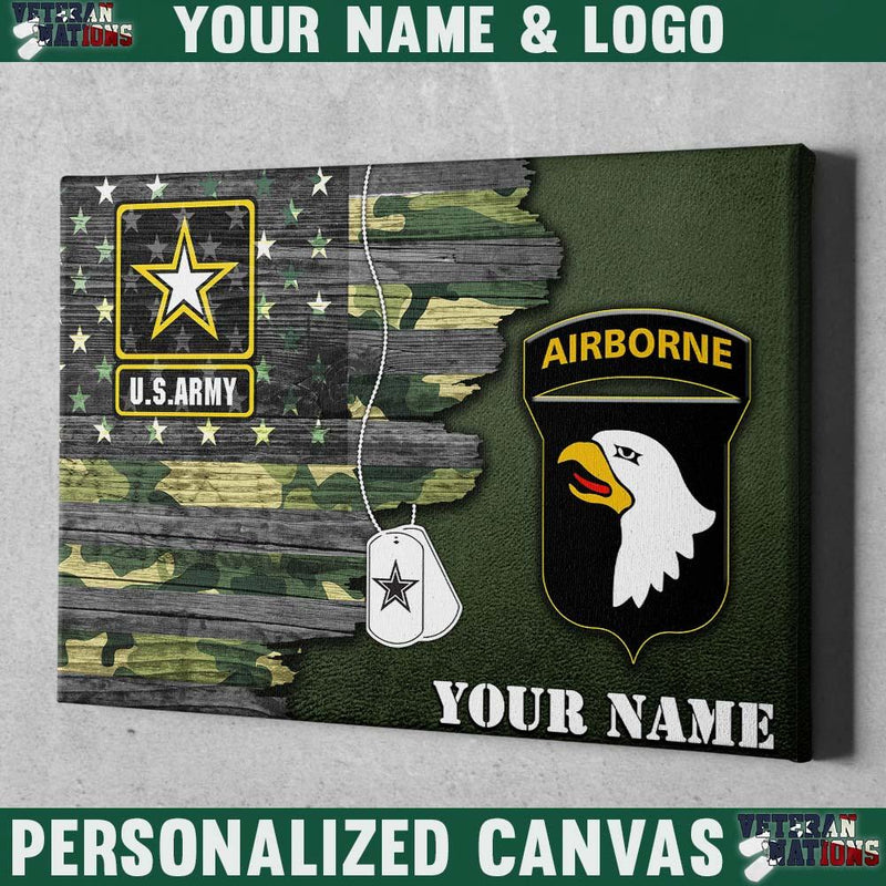 Personalized Canvas - U.S. Army CSIB - Personalized Name & Logo