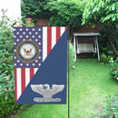 US Navy O-6 Captain O6 CAPT Senior Officer Garden Flag/Yard Flag 12 inches x 18 inches Twin-Side Printing
