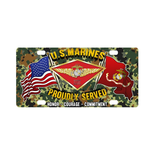 US Marine Corps 4th Marine Air Wing Classic Licens Classic License Plate