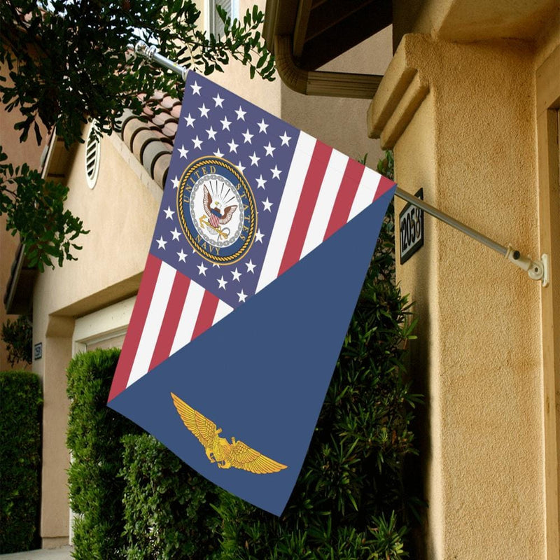 US Navy Naval Astronaut Flight Officer House Flag 28 inches x 40 inches Twin-Side Printing