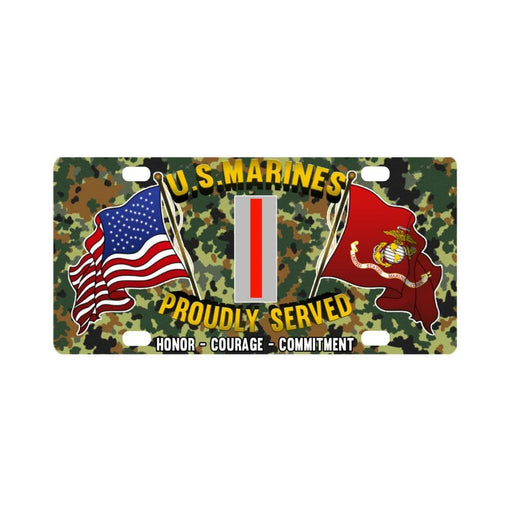 USMC W-5 Chief Warrant Officer 5 CW5 USMC CW5 Warr Classic License Plate