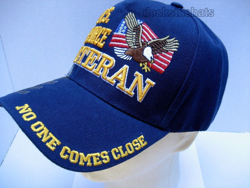 U.S. Air Force Veteran Cap Eagle Flag Shadow Military