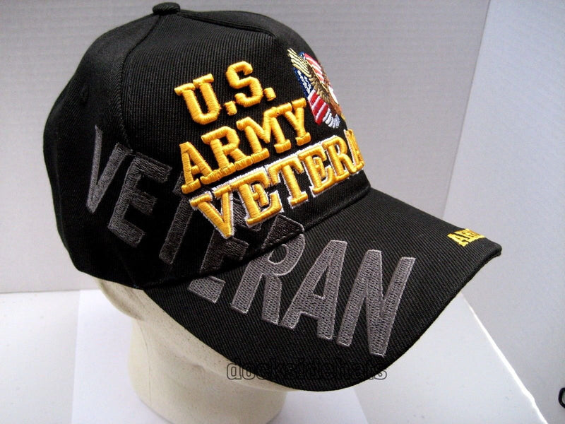 U.S. Army Veteran Cap Eagle Adjustable Black Military