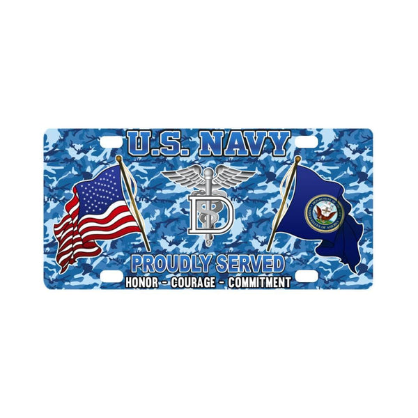 U.S Navy Dental Technician Navy DT - Classic License Plate