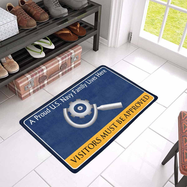 U.S Navy Machinery repairman Navy MR Family Doormat - Visitors must be approved (23,6 inches x 15,7 inches)