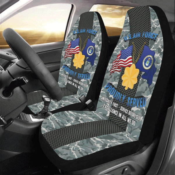 US Air Force O-4 Major Maj O4 Field Officer Ranks Car Seat Covers (Set of 2)