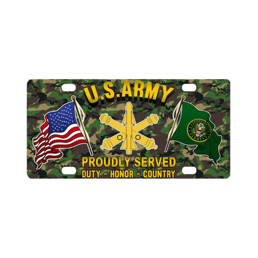 US Army Air Defense Artillery Proudly Plate Frame Classic License Plate