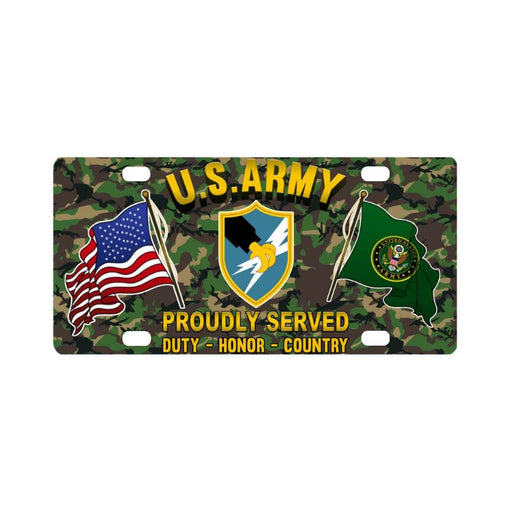 US Army Security Agency Proudly Plate Frame Classic License Plate