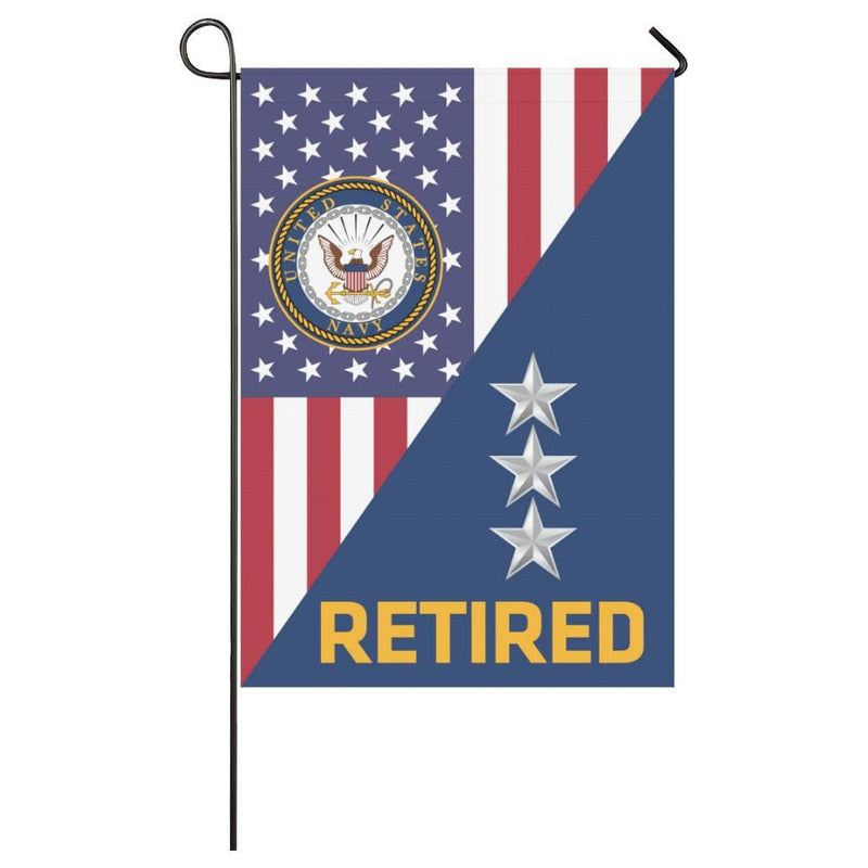 US Navy O-9 Vice Admiral O9 VADM Flag Officer Retired House Flag 28 inches x 40 inches Twin-Side Printing