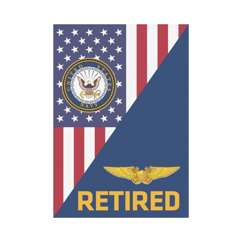 US Navy Naval Flight Officer Retired House Flag 28 inches x 40 inches Twin-Side Printing