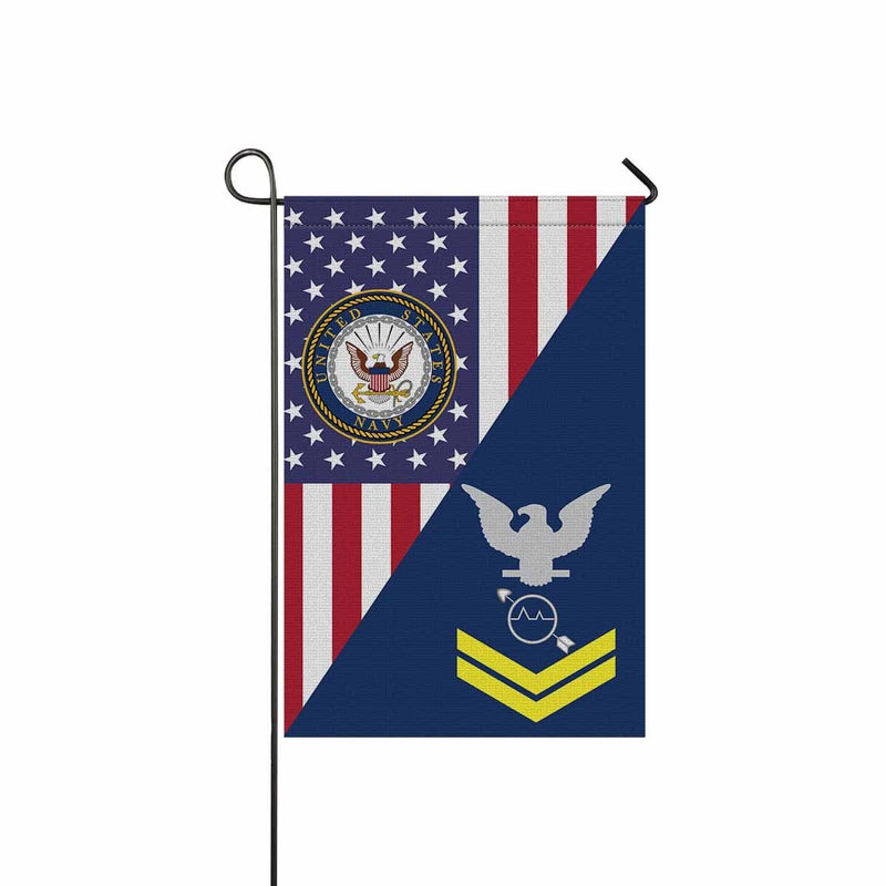 U.S Navy Operations specialist Navy OS E-5 Gold Stripe  Garden Flag/Yard Flag 12 inches x 18 inches Twin-Side Printing