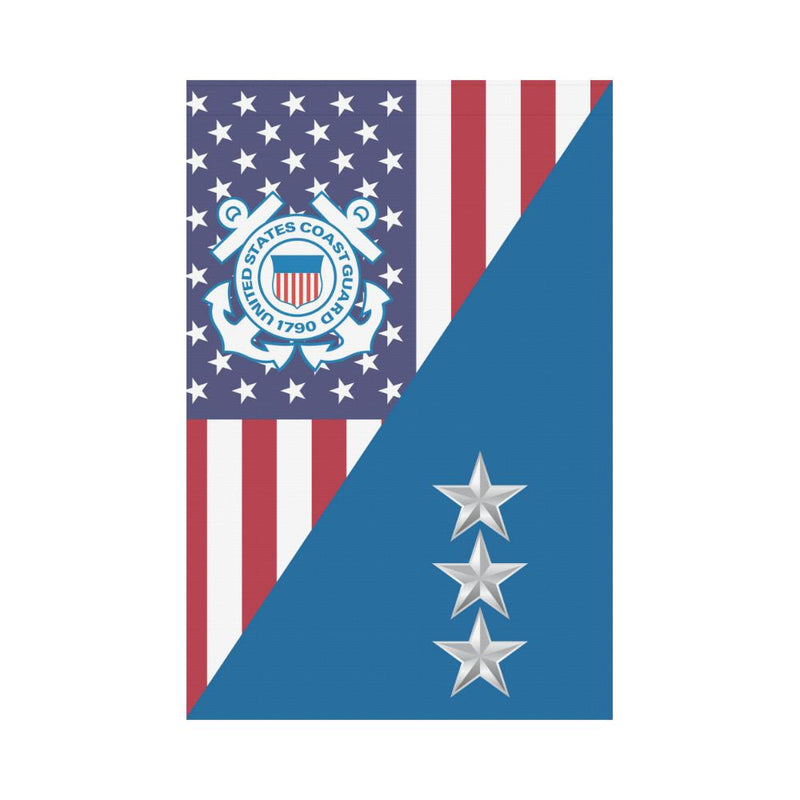 US Coast Guard O-9 Vice Admiral O9 VADM Garden Flag/Yard Flag 12 inches x 18 inches