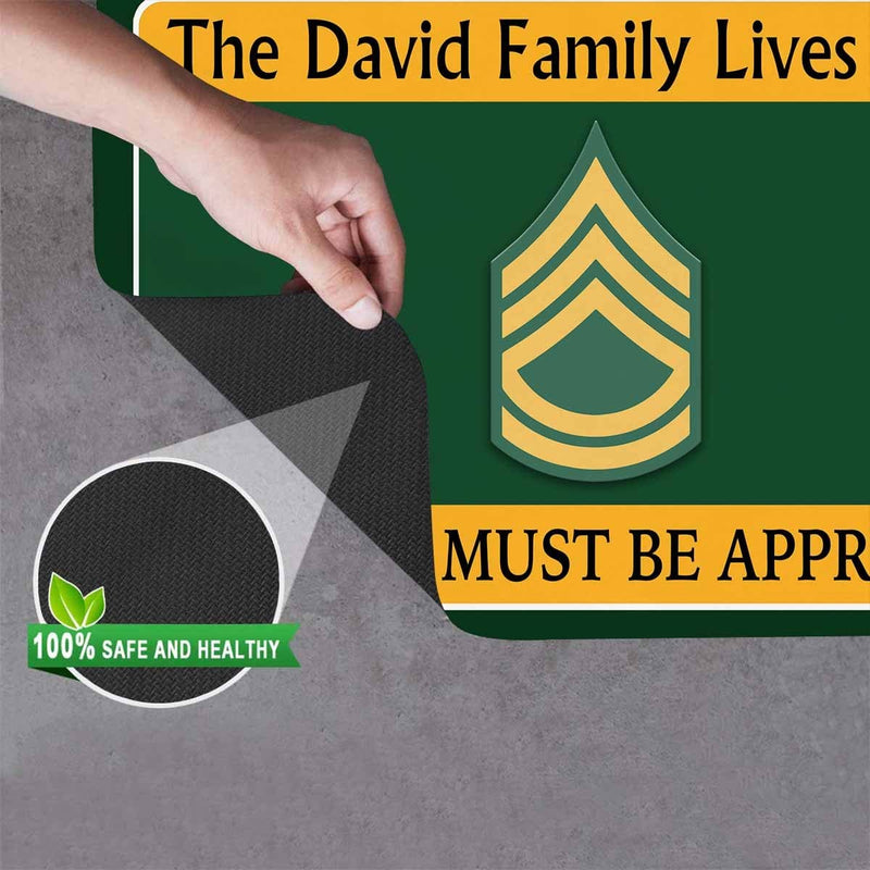 US Army Personalize Doormat 23.6 x15.7 Inches