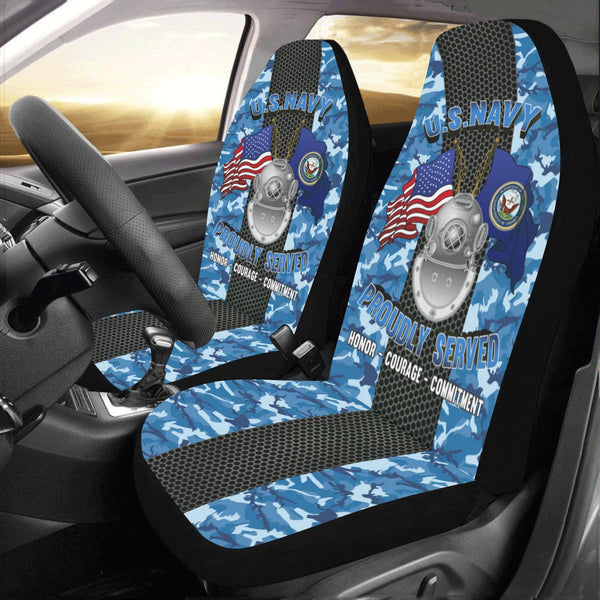 Navy Diver Navy ND Car Seat Covers (Set of 2)