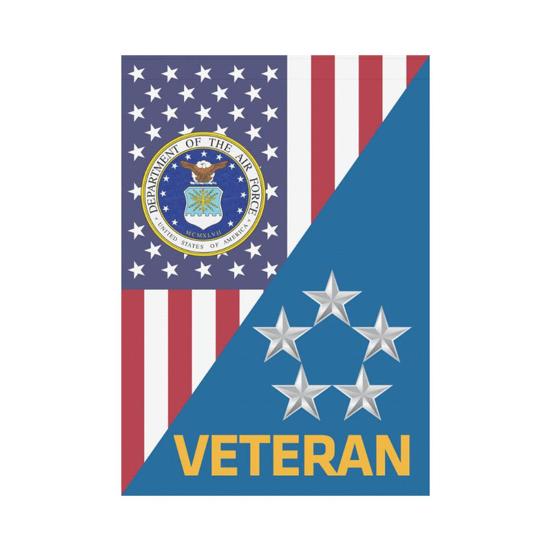 US Air Force O-10 General of the Air Force GAF O10 Veteran House Flag 28 inches x 40 inches Twin-Side Printing