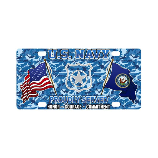 U.S Navy Master-at-arms Navy MA - Classic License Plate