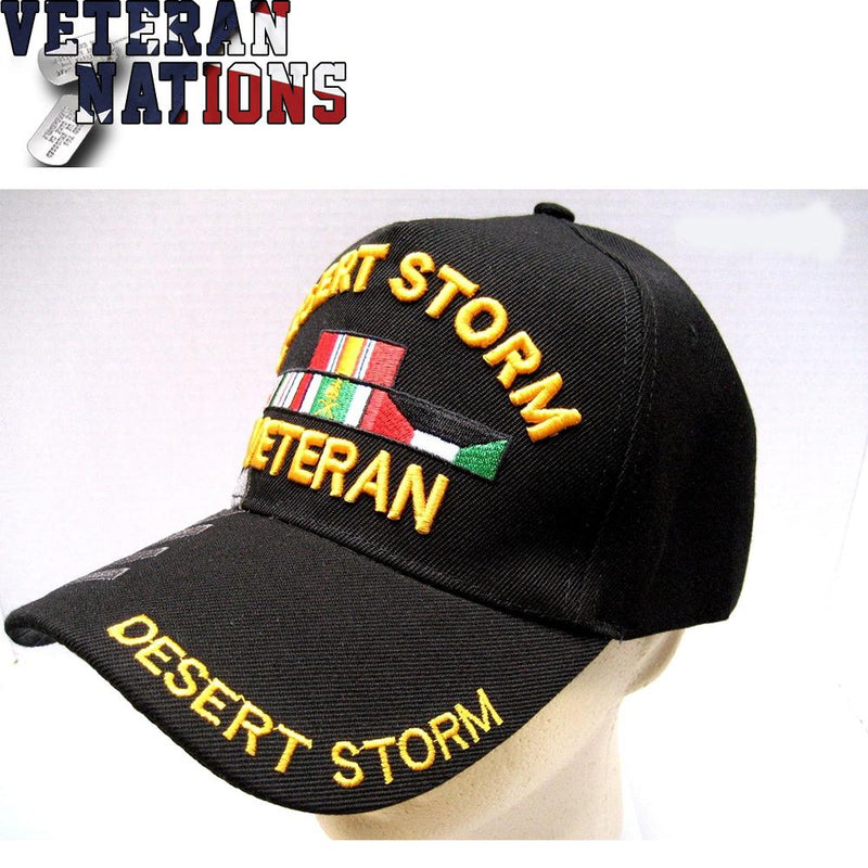 Desert Storm Veteran Hat With Shadow Black