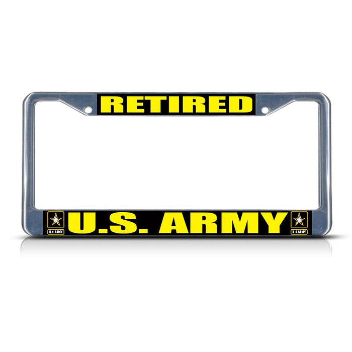US Army Military Metal Heavy License Plate Frame