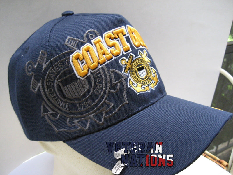 US Coast Guard Veteran Cap Blue w/ Shadow