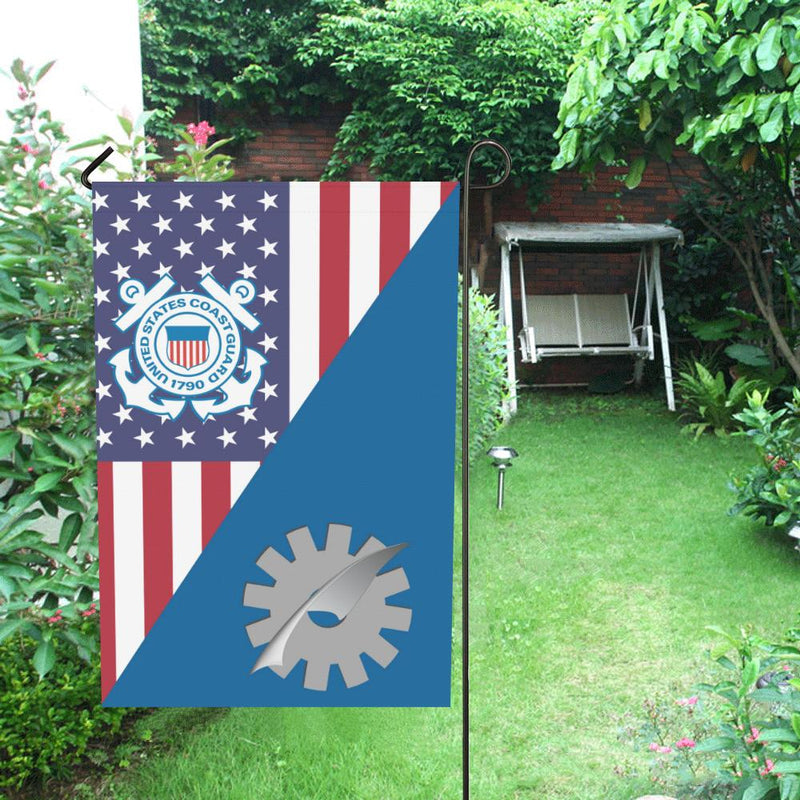 US Coast Guard Data Processing Technician DP Garden Flag/Yard Flag 12 inches x 18 inches