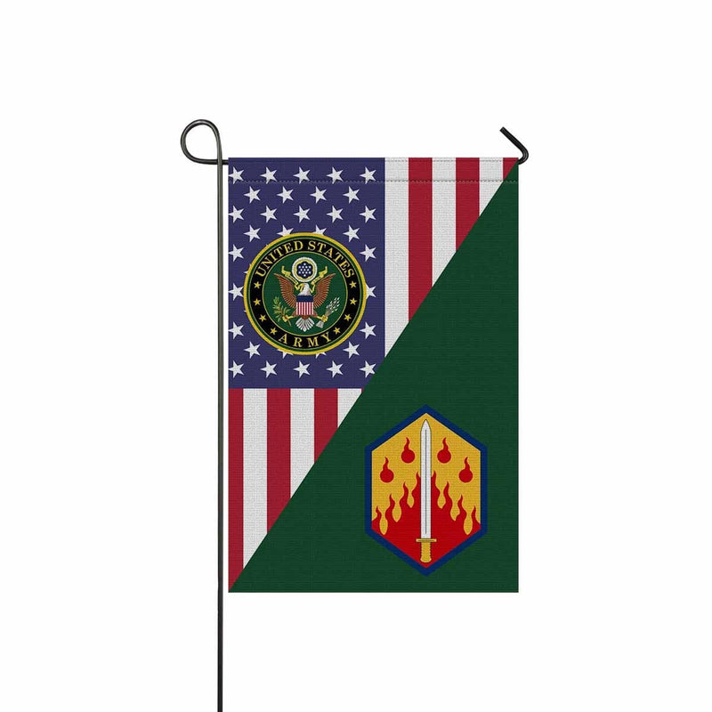 US ARMY 48TH CHEMICAL BRIGADE Garden Flag/Yard Flag 12 inches x 18 inches Twin-Side Printing
