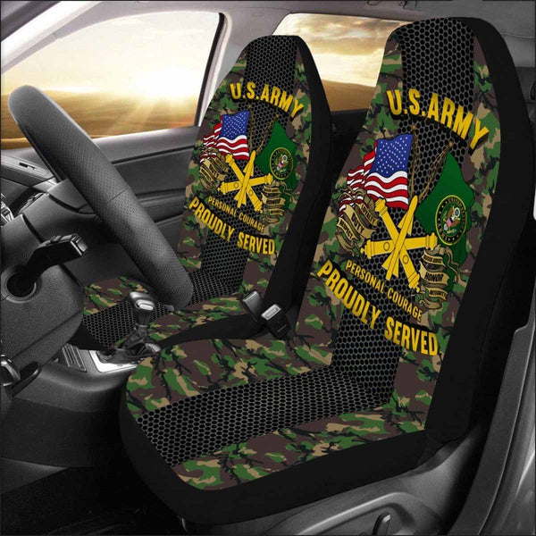 US Army Air Defense Artillery Car Seat Covers (Set of 2)