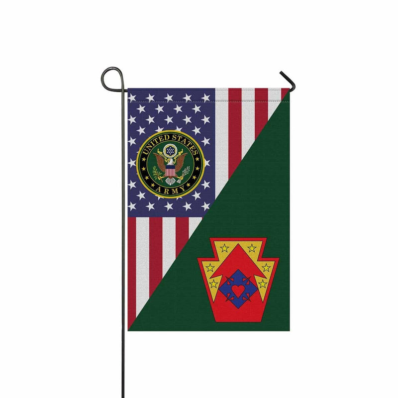 US ARMY 213 SUPPORT GROUP Garden Flag/Yard Flag 12 inches x 18 inches Twin-Side Printing