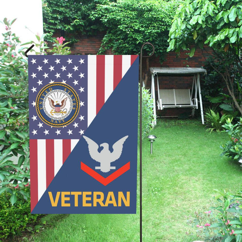 US Navy E-4 Petty Officer Third Class E4 PO3 Collar Device Veteran House Flag 28 inches x 40 inches Twin-Side Printing