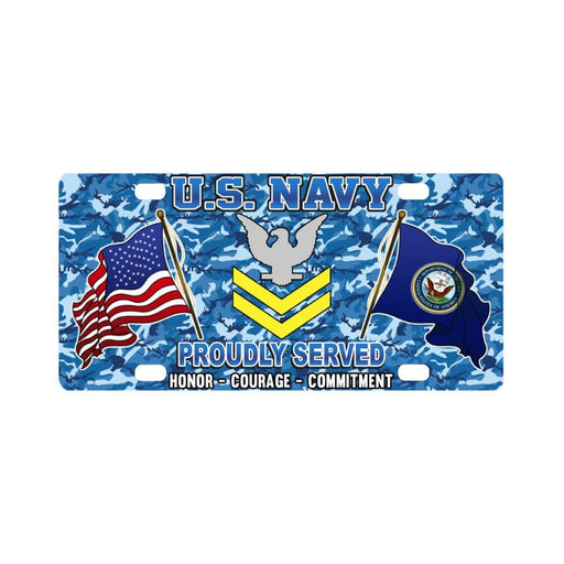 US Navy E-5 Petty Officer Second Class E5 PO2 Gold Classic License Plate