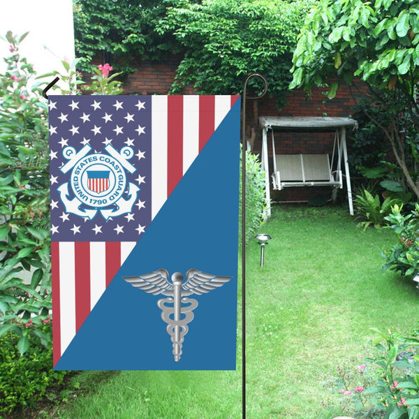 US Coast Guard Health Services Technician HS Garden Flag/Yard Flag 12 inches x 18 inches