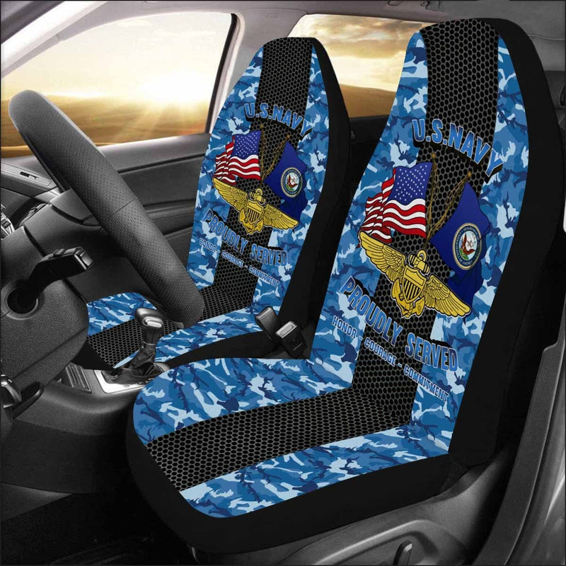 U.S NAVY NAVAL AVIATOR Car Seat Covers (Set of 2)