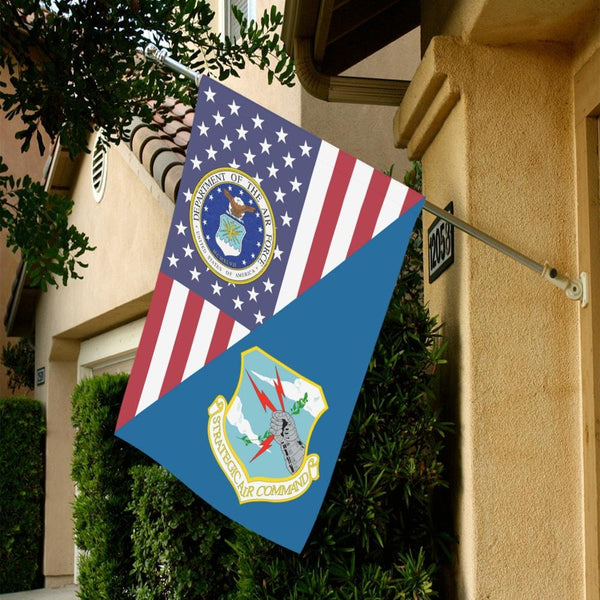 US Air Force Strategic Air Command House Flag 28 inches x 40 inches Twin-Side Printing