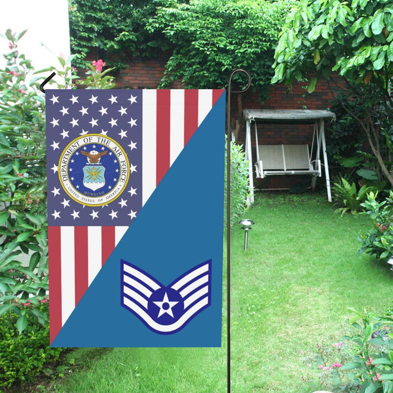 US Air Force E-5 Staff Sergeant Sgt House Flag 28 inches x 40 inches Twin-Side Printing