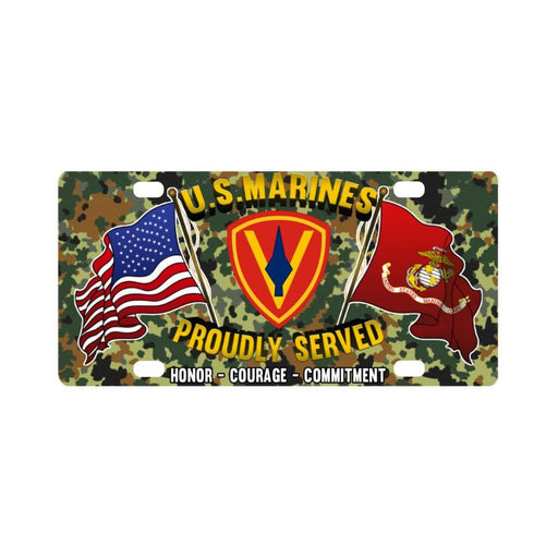 US Marine Corps 5th Division Classic License Plate Classic License Plate