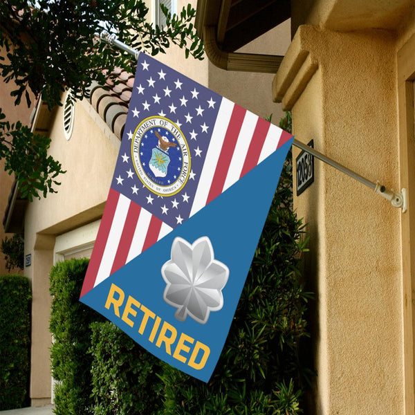US Air Force O-5 Lieutenant Colonel Lt Co O5 Retired House Flag 28 inches x 40 inches Twin-Side Printing
