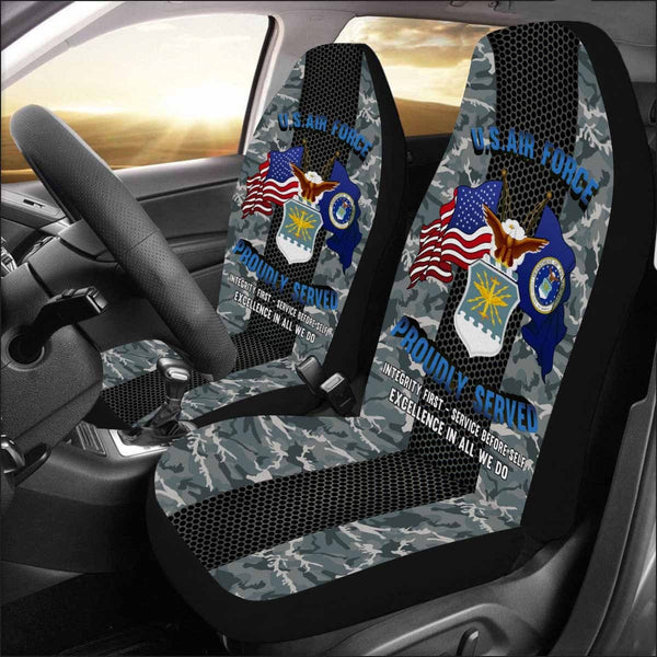 US Air Force Logo - Car Seat Covers (Set of 2)