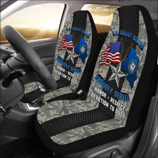 US Coast Guard O-7 Rear Admiral Lower Half O7 DRML Flag Officer Car Seat Covers (Set of 2)