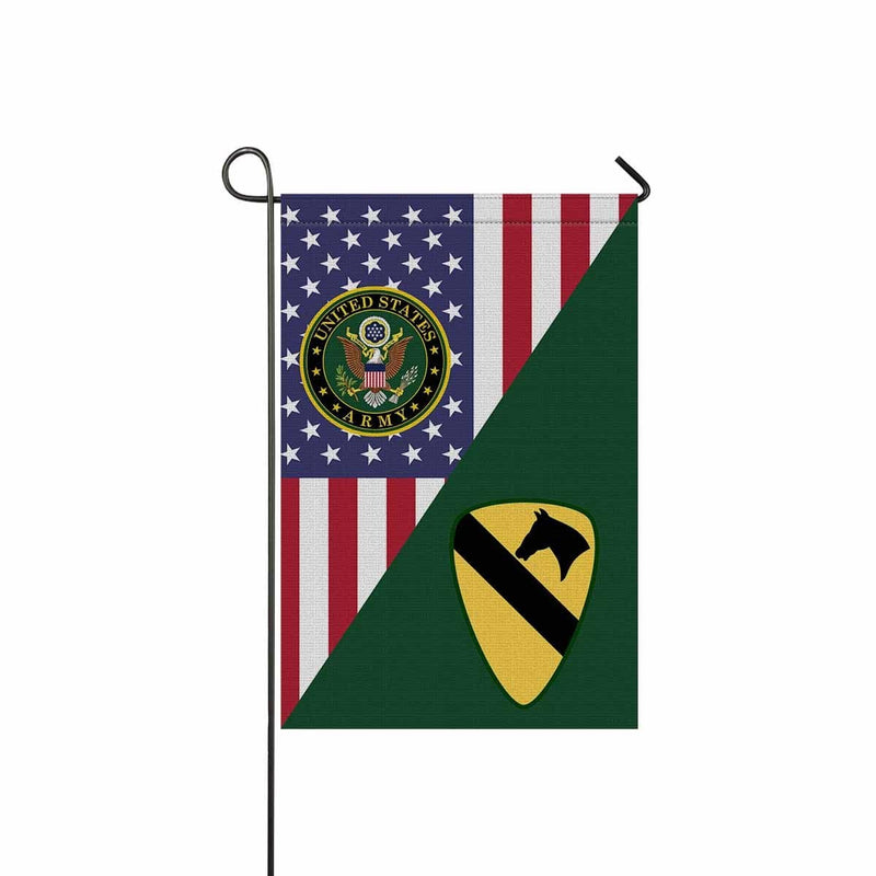 US Army 1st Cavalry Division Garden Flag/Yard Flag 12 inches x 18 inches Twin-Side Printing