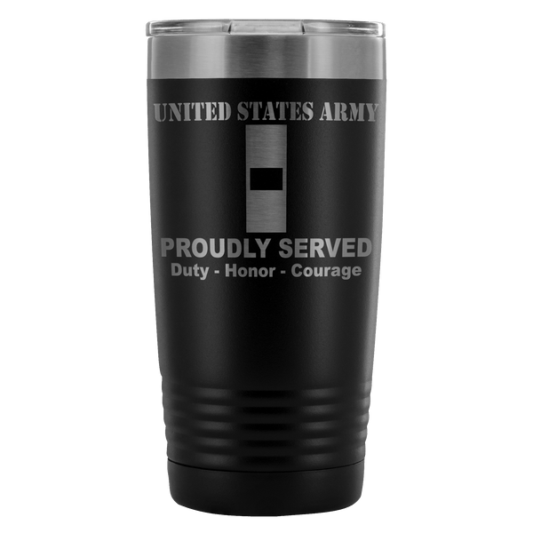 US Army W-1 Warrant Officer 1 W1 WO1 Warrant Officer Proudly Served - 20 Oz Ounce Vacuum Tumbler