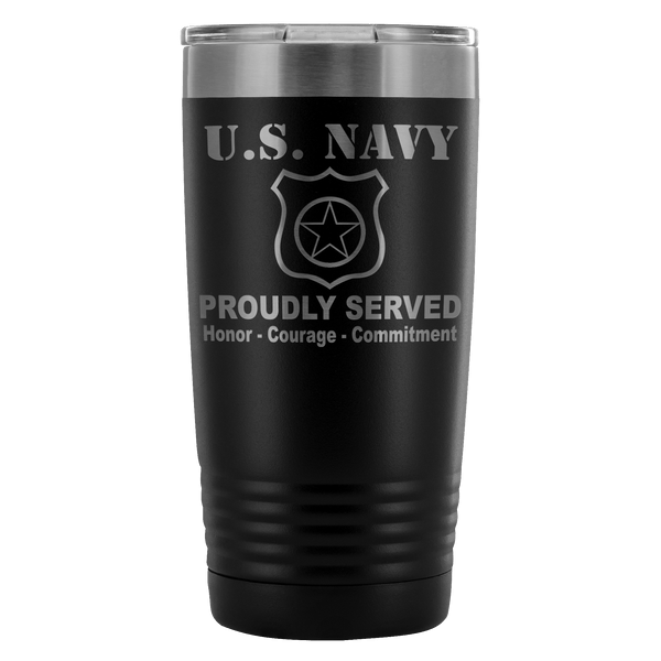 US Navy Master at Arms MA 20 Ounce Vacuum Tumbler