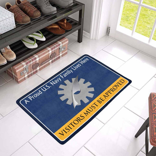 Navy Data Processing Technician Navy DP Family Doormat - Visitors must be approved (23,6 inches x 15,7 inches)