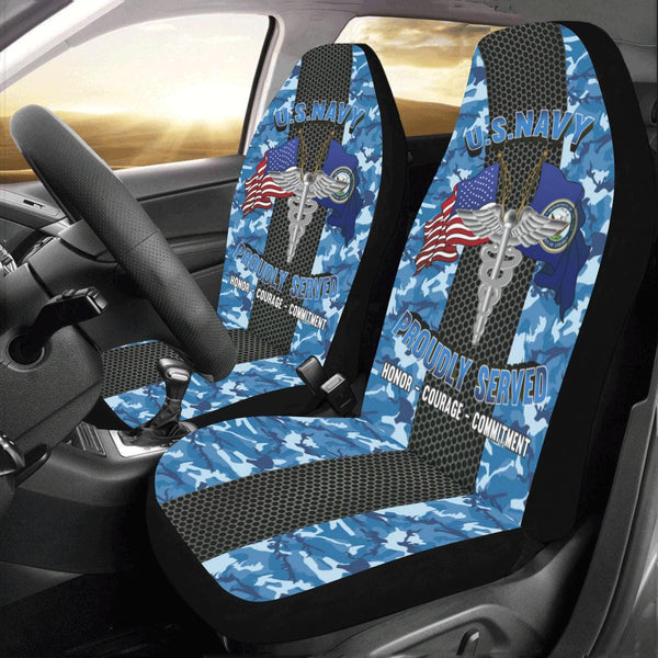 U.S Navy Hospital Corpsman Navy HM Car Seat Covers (Set of 2)