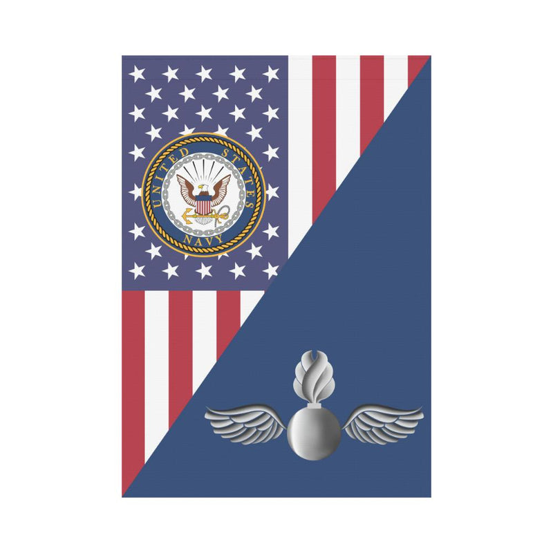US Navy Aviation Ordnanceman Navy AO House Flag 28 inches x 40 inches Twin-Side Printing
