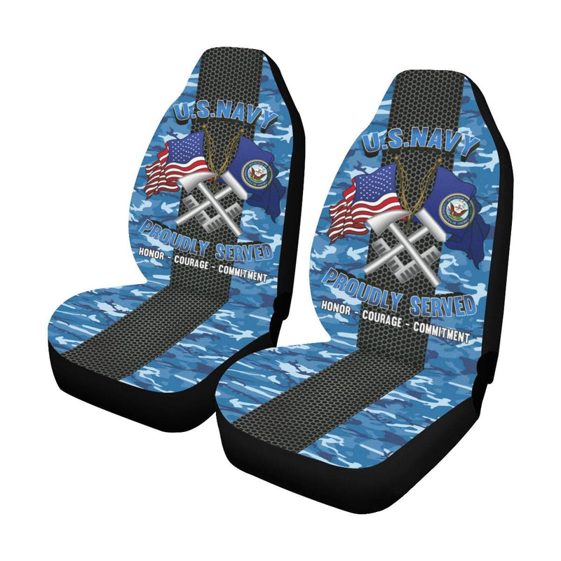 Navy Hull Maintenance Technician Navy HT Car Seat Covers (Set of 2)
