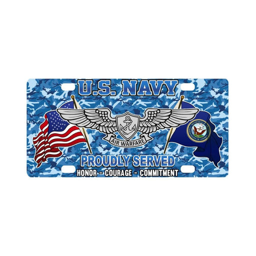 US Navy Enlisted Aviation Warfare Specialist Class Classic License Plate