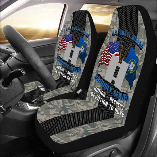 US Coast Guard O-3 Lieutenant O3 LT Junior Officer Car Seat Covers (Set of 2)