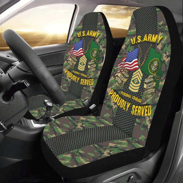 US Army E-8 First Sergeant E8 1SG Noncommissioned Officer Car Seat Covers (Set of 2)